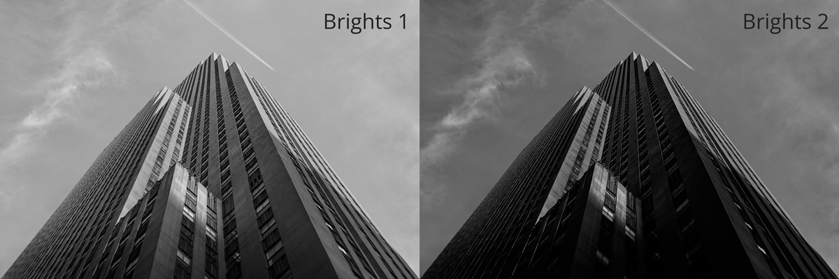 bright 1 and brights 2 luminosity masks