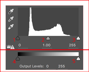 levels adjustments tool