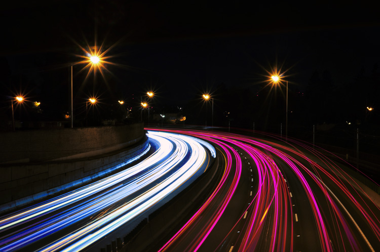 adjustment applied to light trails
