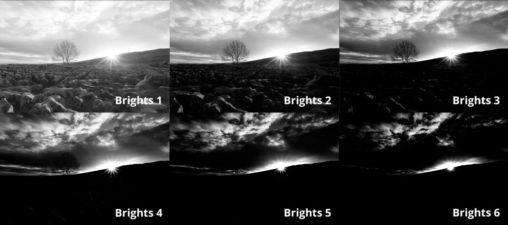 choosing a brights luminosity mask