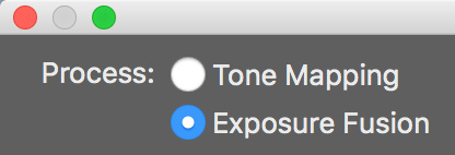 tone mapping or exposure fusion