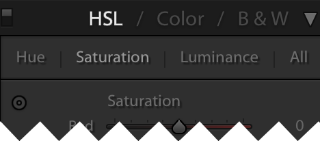 HSL in lightroom