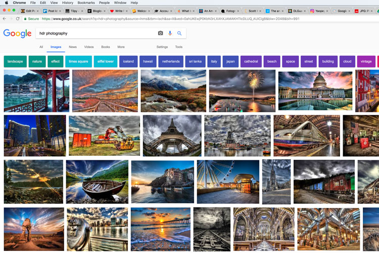 google search result for hdr photography