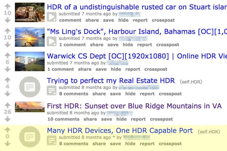 wrong hdr forum