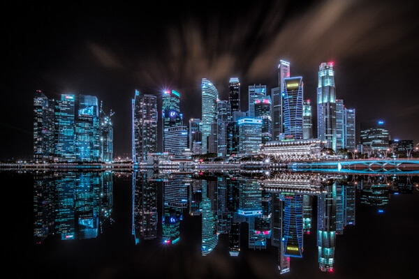 Marina Bay, Singapore: Luminosity Mask In Composite Workflow
