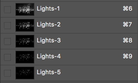 selecting a brights luminosity mask