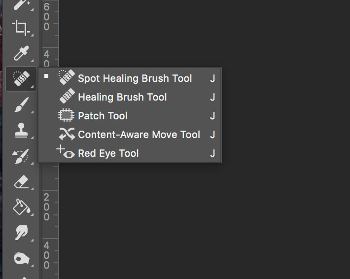 stacked tools in tools panel