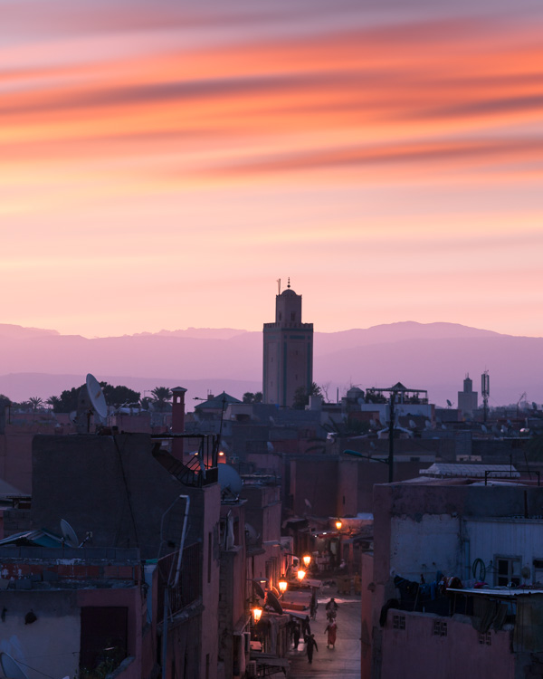 marrakesh at sunset